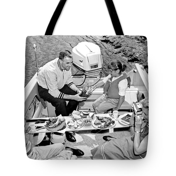 Family Boating Lunch Tote Bag