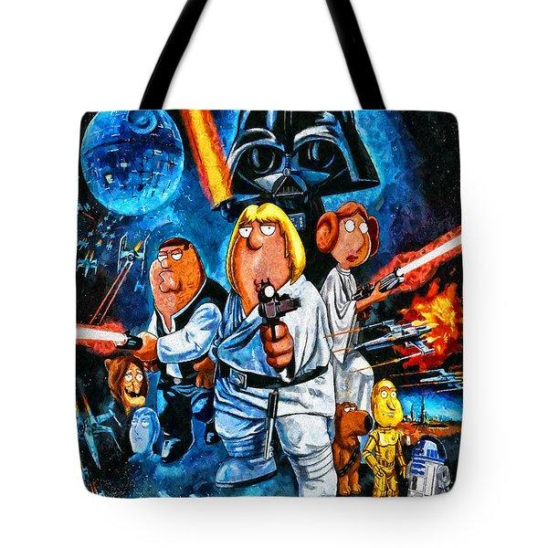 Family Guy Star Wars Tote Bag