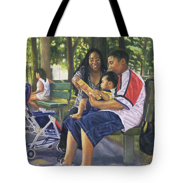 Family In The Park Tote Bag