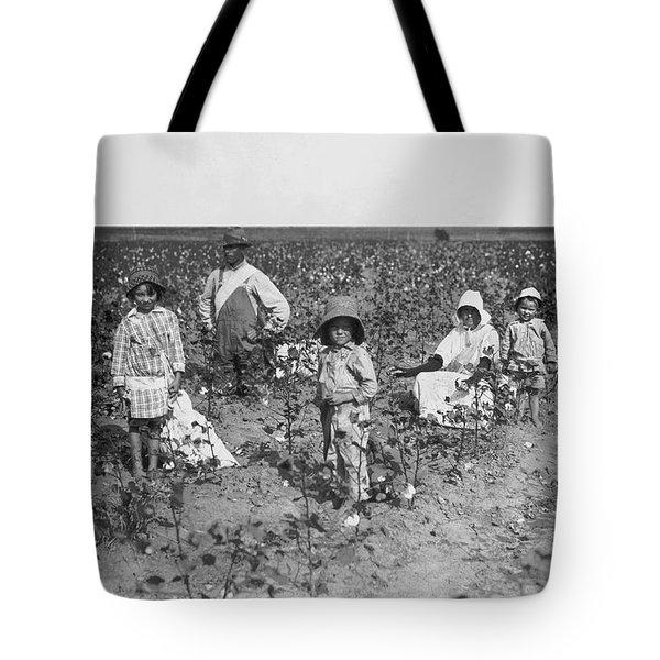 Family Picking Cotton Tote Bag