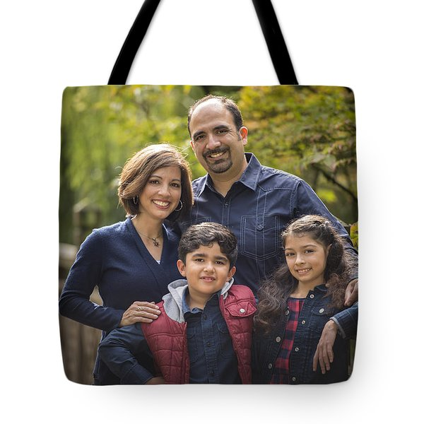 Family Portrait On Bridge - 1 Tote Bag