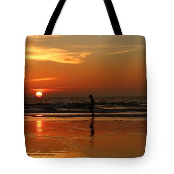 Family Reflections At Sunset - 5 Tote Bag
