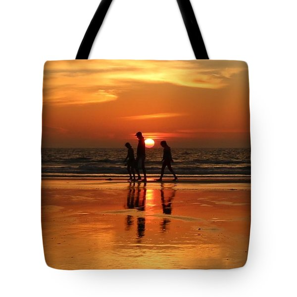 Family Reflections At Sunset - 1 Tote Bag