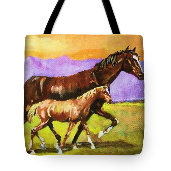 Family Stroll Tote Bag by Al Brown