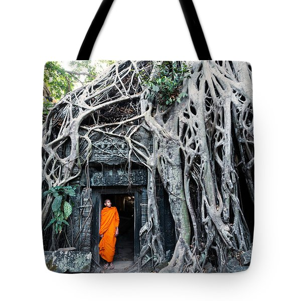 Famous Big Tree Inside Ta Phrom Temple - Angkor - Cambodia Tote Bag by Matteo Colombo