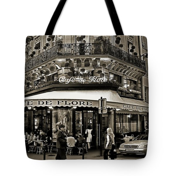 Famous Cafe De Flore - Paris Tote Bag