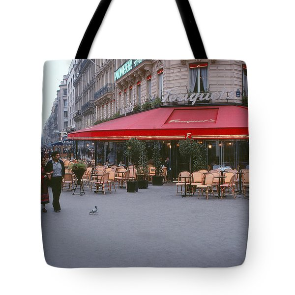 Famous Paris Restaurant - Fouquet's Tote Bag