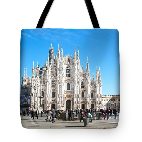 Famous Piazza Del Duomo - Milan - Italy Tote Bag