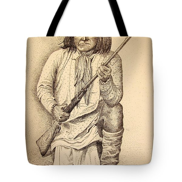 Famous Pose - Geronimo Tote Bag by Marilyn Smith