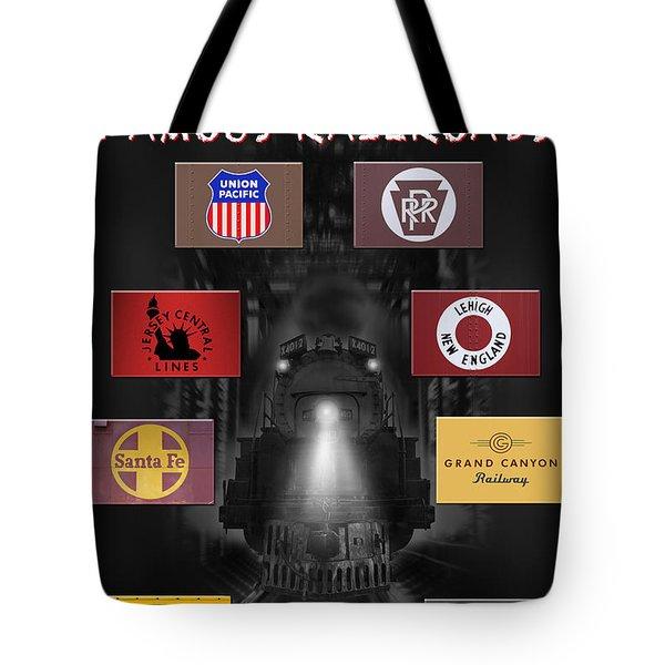 Famous Railroads Tote Bag by Mike McGlothlen