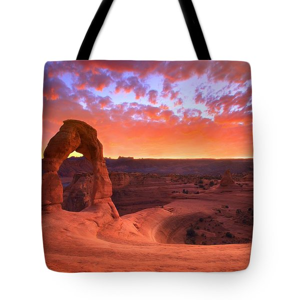 Tote Bag featuring the photograph Famous Sunset by Kadek Susanto