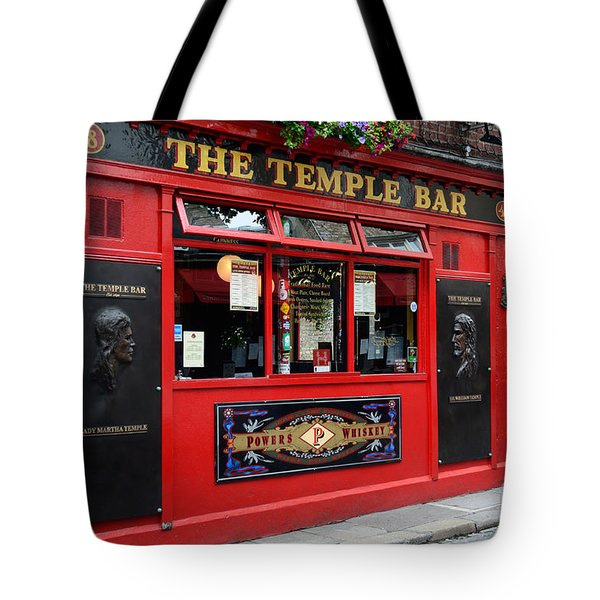 Famous Temple Bar In Dublin Tote Bag