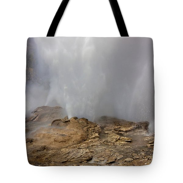 Fan And Mortar Erupt Tote Bag