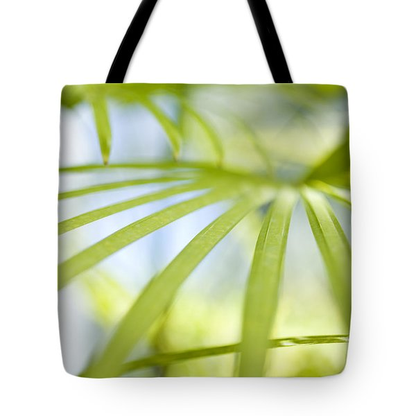 Tote Bag featuring the photograph Fan Palm Fronds by Charmian Vistaunet