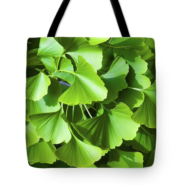 Fan Shaped Leaves Tote Bag