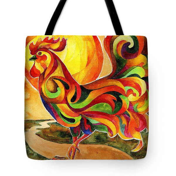Fancy Feathers Rooster Tote Bag