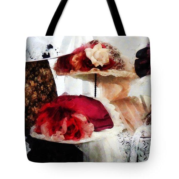Fancy Hats Tote Bag by Susan Savad