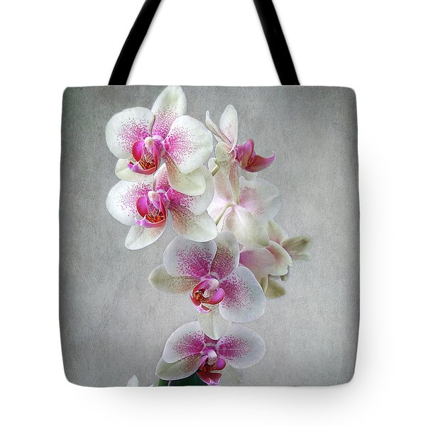 Fancy Orchids Tote Bag by Louise Kumpf