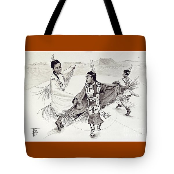 Fancy Shawl Dance Tote Bag
