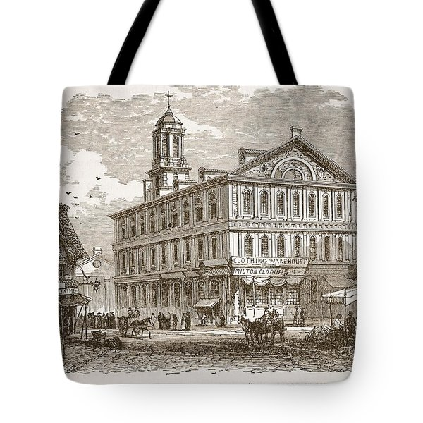 Faneuil Hall, Boston, Which Webster Tote Bag by American School