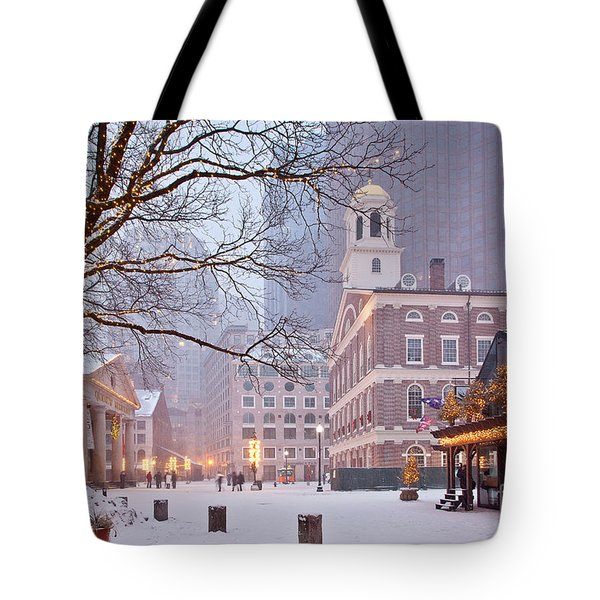 Faneuil Hall In Snow Tote Bag