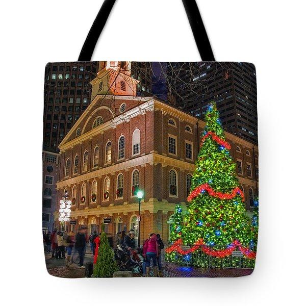 Faneuil Hall Night Tote Bag by Joann Vitali