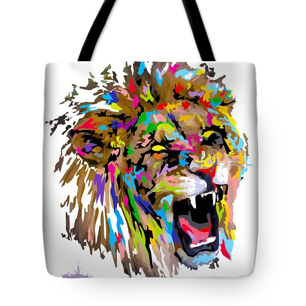 Tote Bag featuring the painting Fangs by Anthony Mwangi