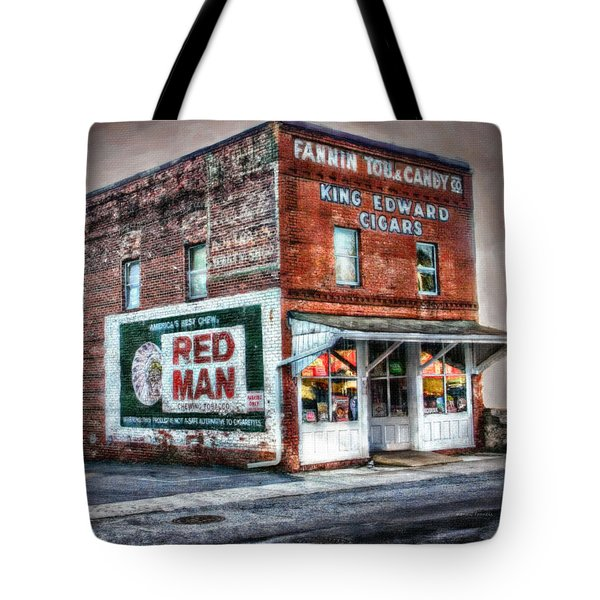 Fannin Tobacco And Candy Company Tote Bag