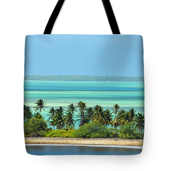 Fanning Island Tote Bag by Eva Kaufman