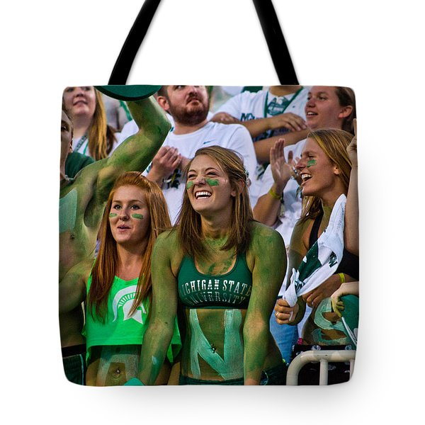 fans at MSU Football Game  Tote Bag by John McGraw