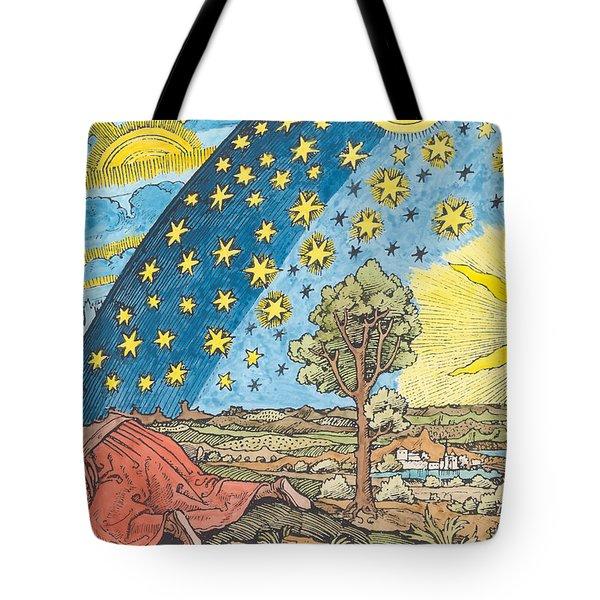 Fantastic Depiction Of The Solar System Tote Bag