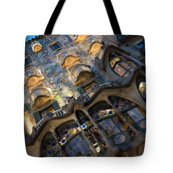 Fantastical Casa Batllo - Antoni Gaudi Barcelona Tote Bag