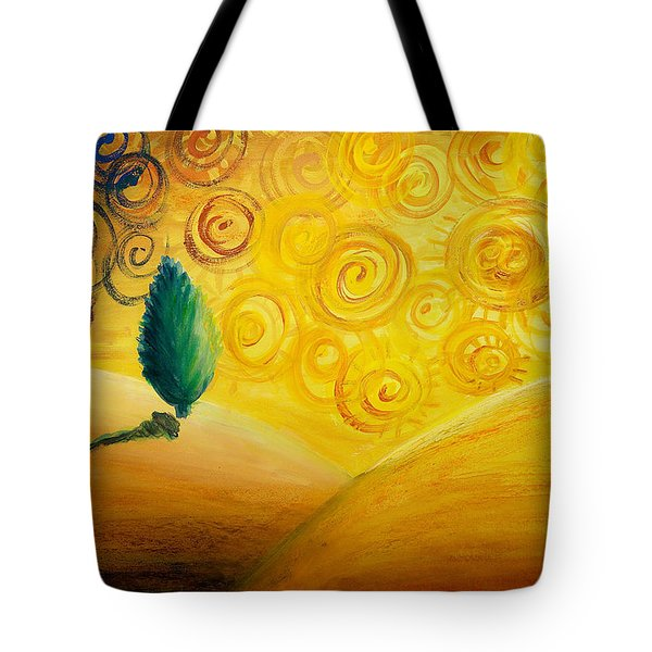 Fantasy Art - Lonely Tree Tote Bag by Nirdesha Munasinghe