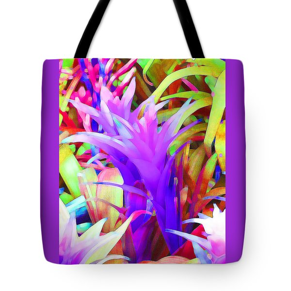 Fantasy Bromeliad Abstract Tote Bag