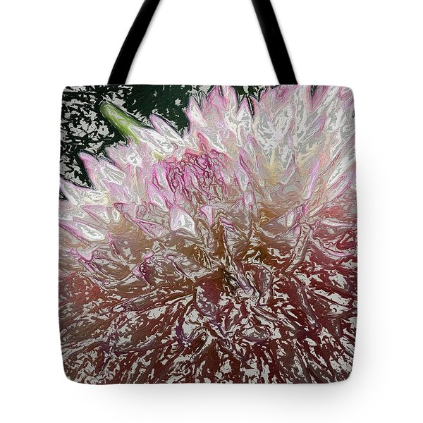 Tote Bag featuring the photograph Fantasy Dahlia by Denyse Duhaime