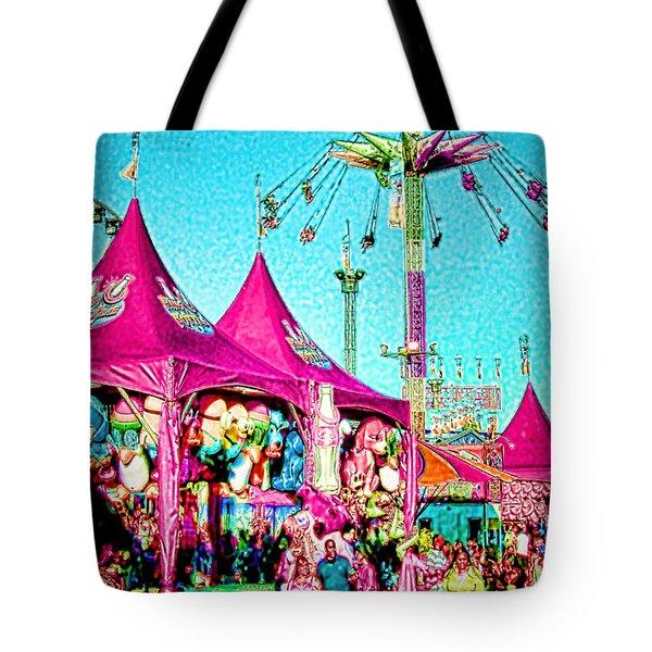 Tote Bag featuring the digital art Fantasy Fair by Jennie Breeze