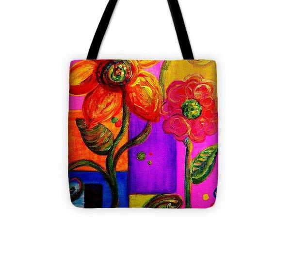 Fantasy Flowers Tote Bag by Eloise Schneider