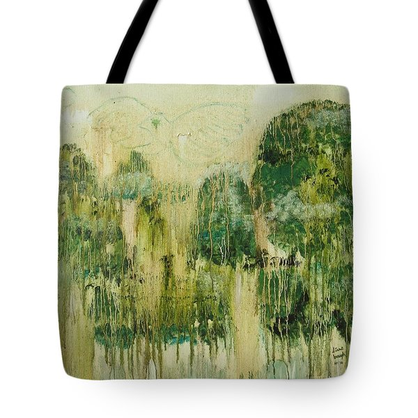 Tote Bag featuring the painting Fantasy Forest by Diane Pape