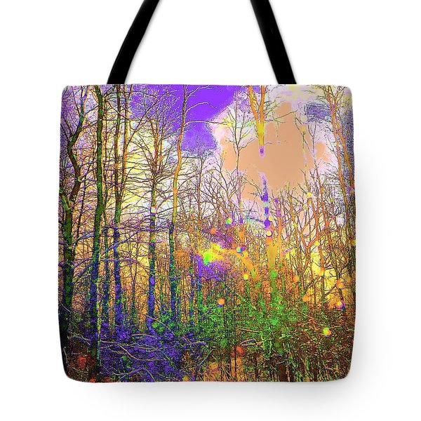 Tote Bag featuring the photograph Fantasy Forest by Jodie Marie Anne Richardson Traugott          aka jm-ART