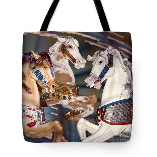 fantasy horses at a fair - Trifecta Tote Bag
