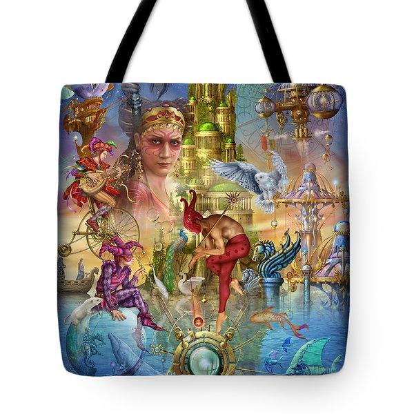 Fantasy Island Tote Bag by Ciro Marchetti