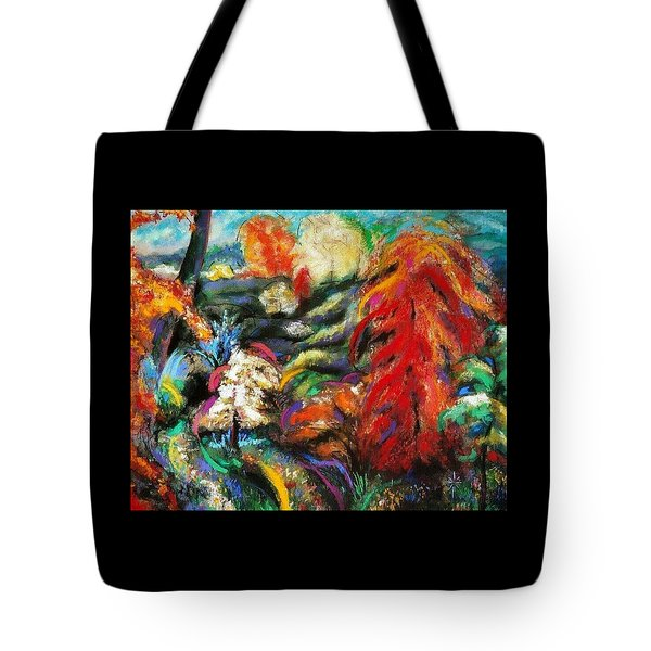 Tote Bag featuring the pastel Fantasy Landscape by Jodie Marie Anne Richardson Traugott          aka jm-ART
