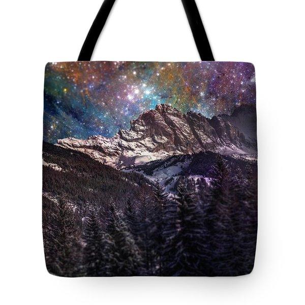 Fantasy Mountain Landscape Tote Bag by Martin Capek