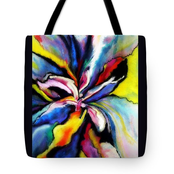 Tote Bag featuring the painting Fantasy Orchid by Jodie Marie Anne Richardson Traugott          aka jm-ART
