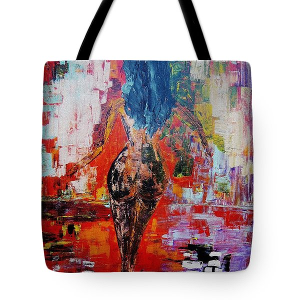 Tote Bag featuring the painting Fantasy by Piety Dsilva