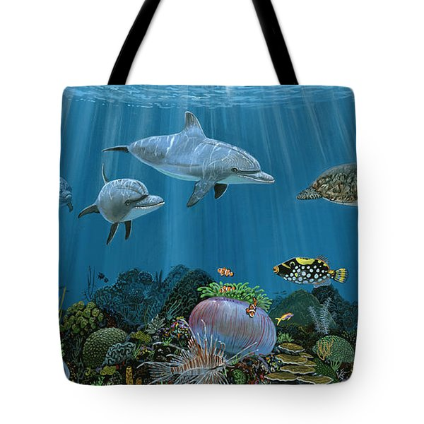 Fantasy Reef Re0020 Tote Bag by Carey Chen