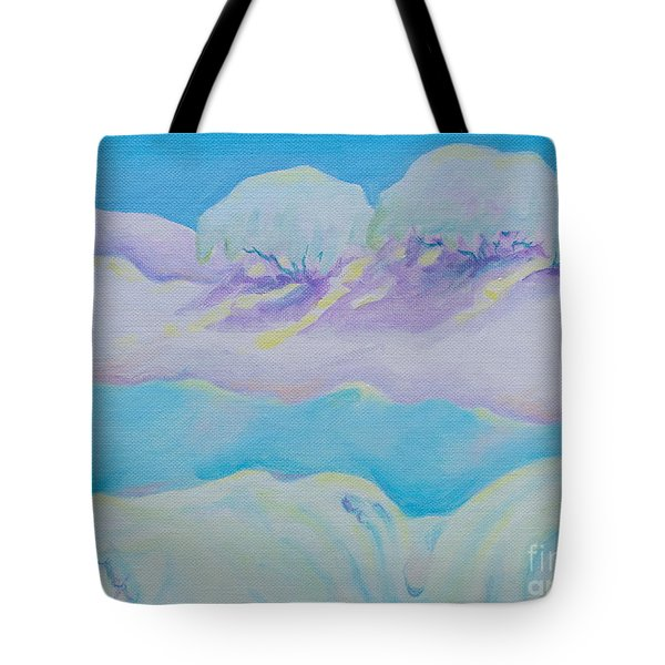 Fantasy Snowscape Tote Bag
