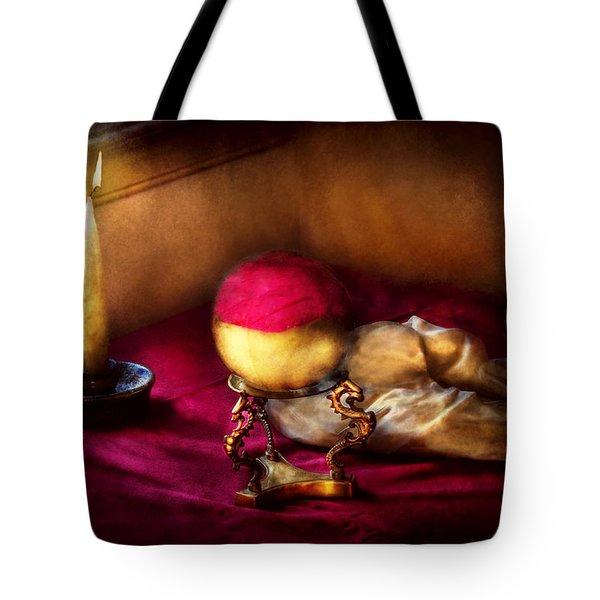 Fantasy - The Crystal Ball Tote Bag by Mike Savad