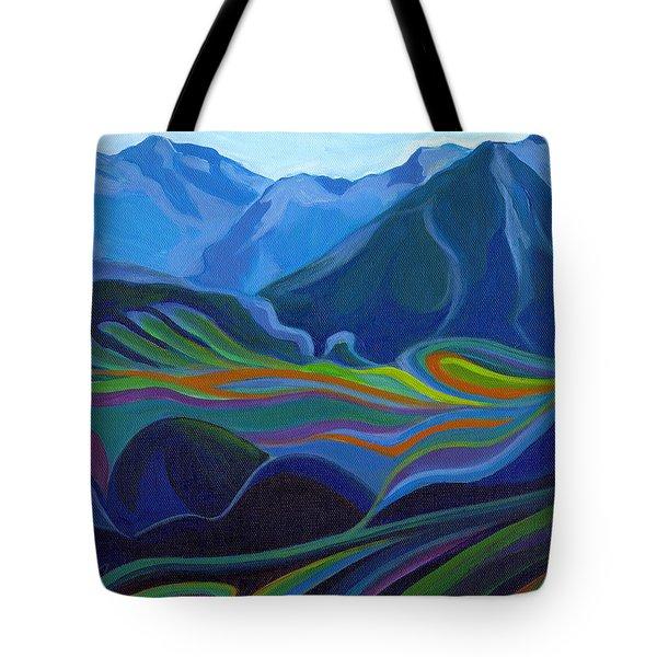 Faraway Mountains Tote Bag