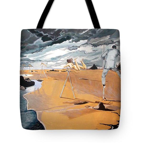 Tote Bag featuring the painting Faraway Lejanias by Lazaro Hurtado